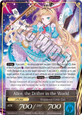 Alice, the Drifter in the World